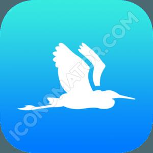 Stork Flying Icon
