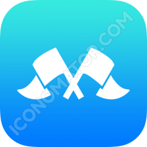 Flags Crossed Icon