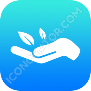 Hand with Leaf Icon