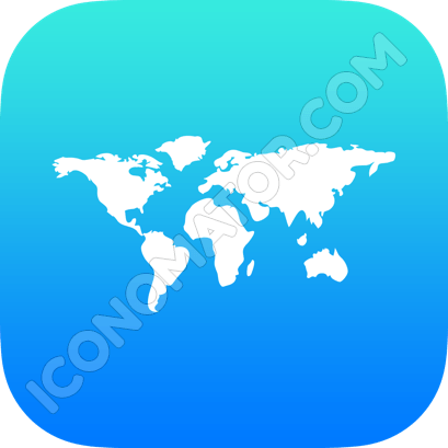 World Map Icon - Iconomator