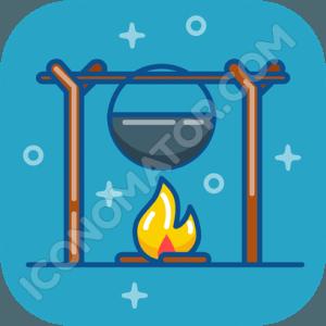 Cauldron & Campfire Icon
