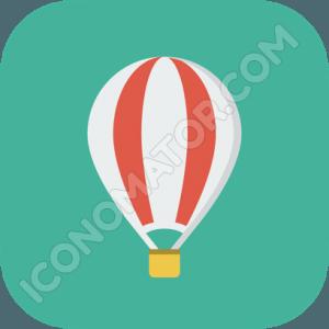 Air Balloon Plain Icon
