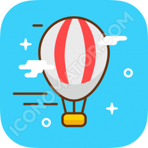 Air Balloon Flying Icon