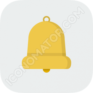 Bell White Background Icon