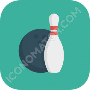 Bowling Turquoise Icon