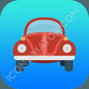 Car VW Beetle Icon