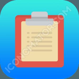 Clipboard Blue Icon