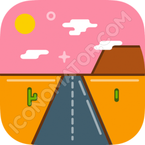 Desert Highway Icon