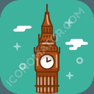 England Big Ben Icon