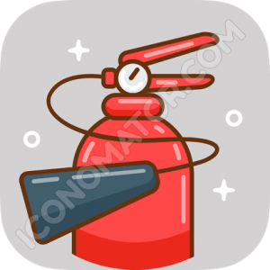 Fire Extinguisher Vintage Icon