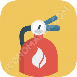 Fire Extinguisher Red Icon