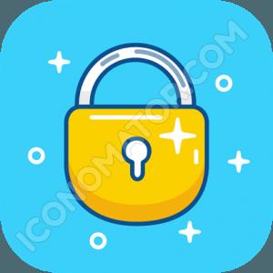 Padlock Yellow Icon