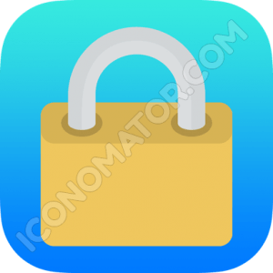 Lock Blue Icon