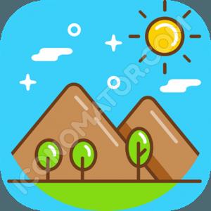 Mountains & Sun Icon