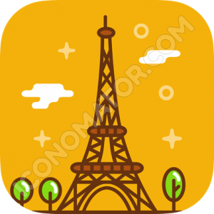 Paris Eifel Tower Icon