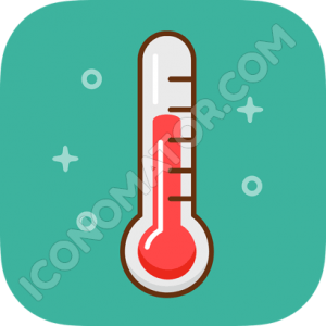 Thermometer Retro Icon