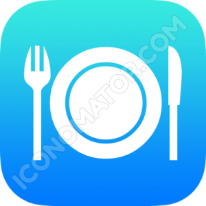 Plate with Knife & Fork Icon