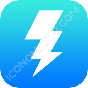 Thunderbolt Outline Icon