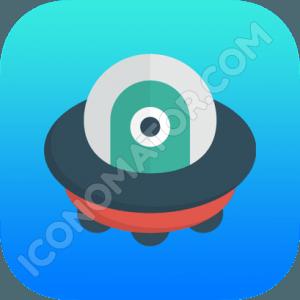UFO Funny Icon