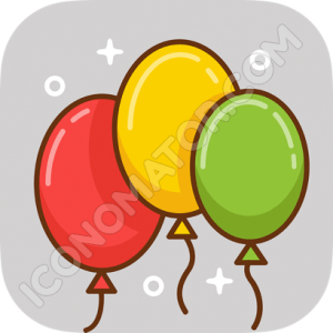 Two Baloons Icon