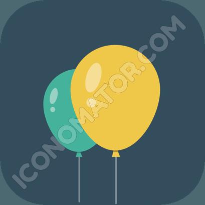 Three  Baloons Icon