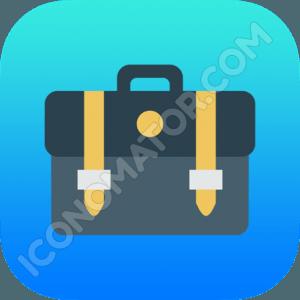 Briefcase Blue Icon