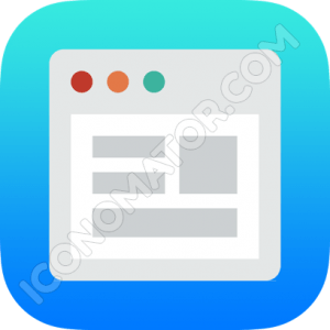 Browser Blue Icon