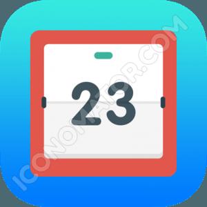 Calendar Black & Red Icon