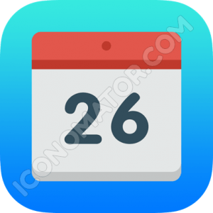 Calendar Blue & Red Icon