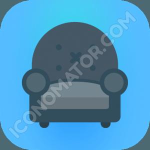 Armchair dark Icon