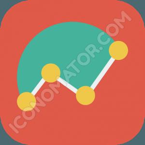 Line & Pie Chart Icon