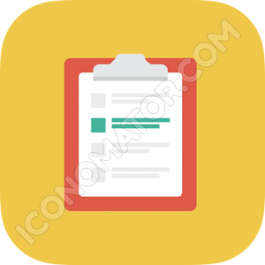 Clipboard Yellow Icon