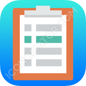 Clipboard with List Icon