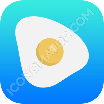 Eggs Sunny Side Up Icon