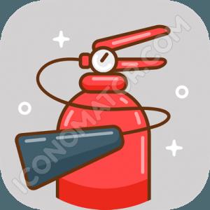 Fire Extinguisher Vintage Icon