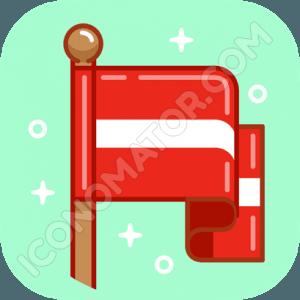 Flag Red White Stripes Icon