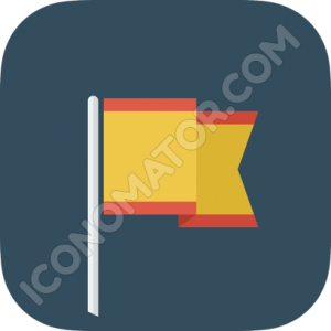 Flag Yellow and Red Icon
