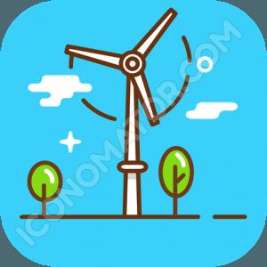 Windfarm Green Energy Icon