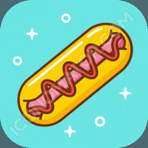 Hotdog & Ketchup Icon