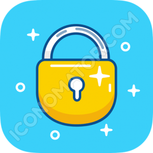 Padlock Yellow Icon