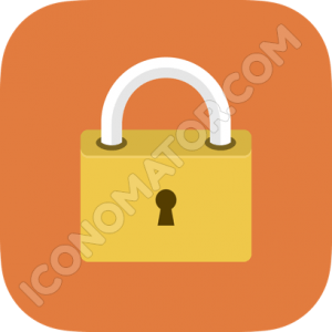 Lock Orange Icon