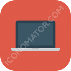 Macbook Blue Icon