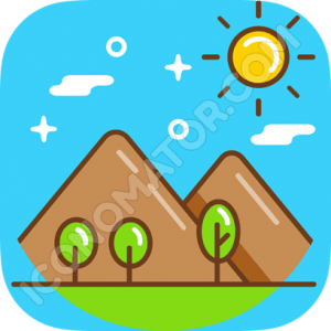 Mountains & Sun Icon