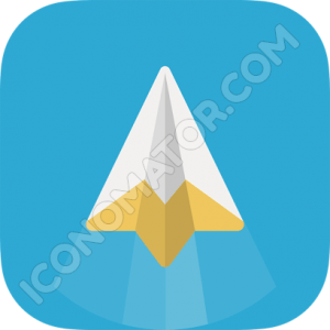 Paper Jet Airplane Icon