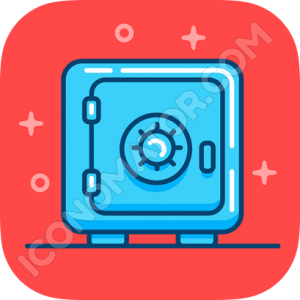 Retro Safe Icon