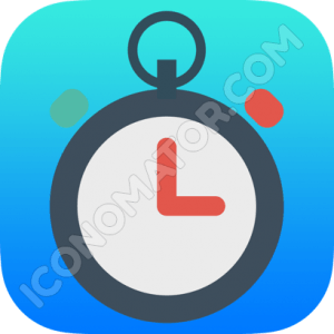 Timer Blue Icon