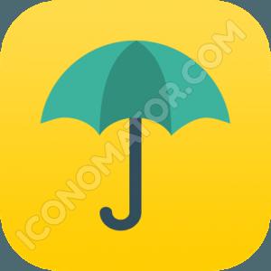Umbrella Blue Icon
