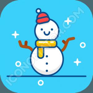 Winter Snowman Icon