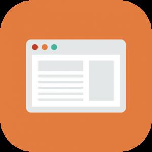Browser Orange Icon