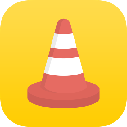 Traffic Cone Red Icon